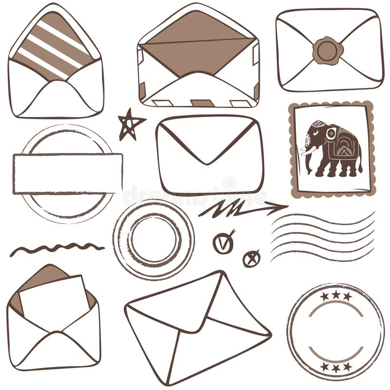 Vector of of mailing icons vector illustration