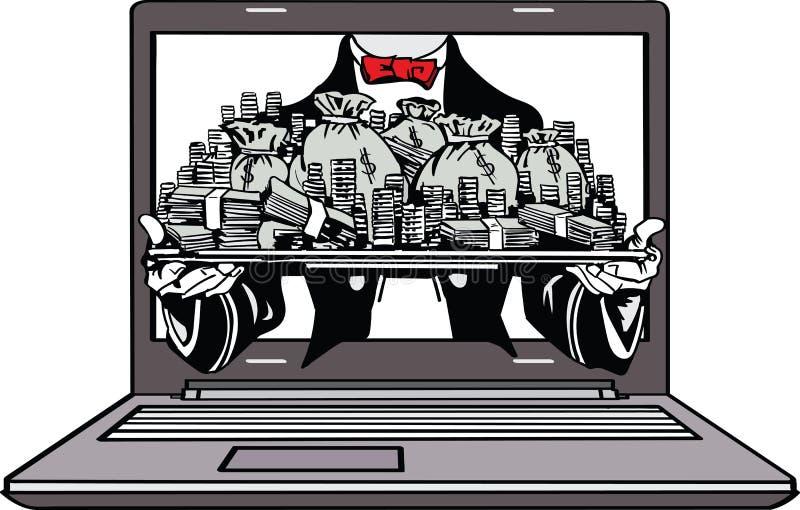 Vector - make money online stock illustration