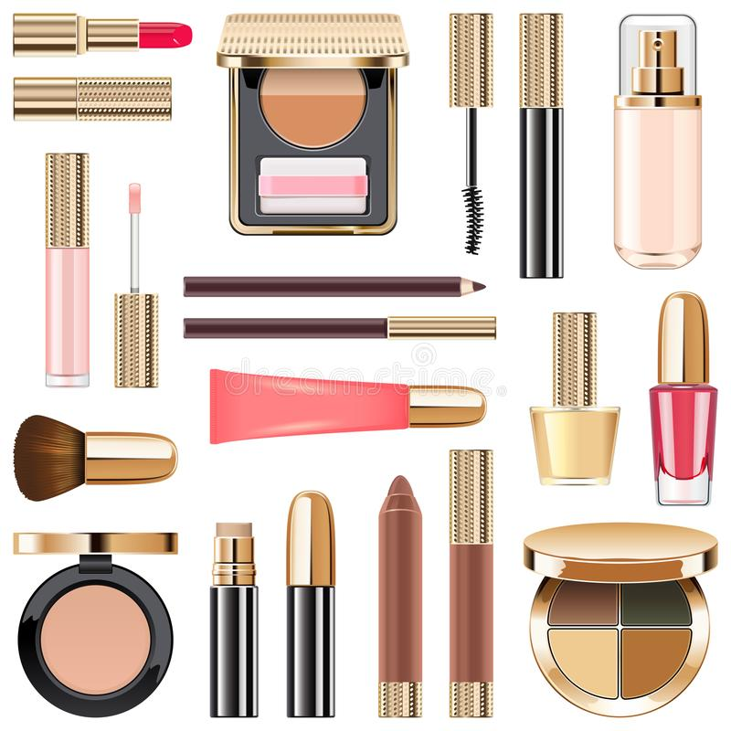 Free Vector Makeup Icons Set 5 Royalty Free Stock Photos - 100398698