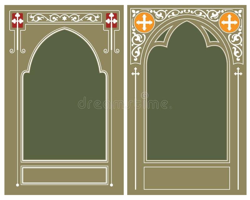 Vector Malplaatje Godsdienstig kader stock illustratie