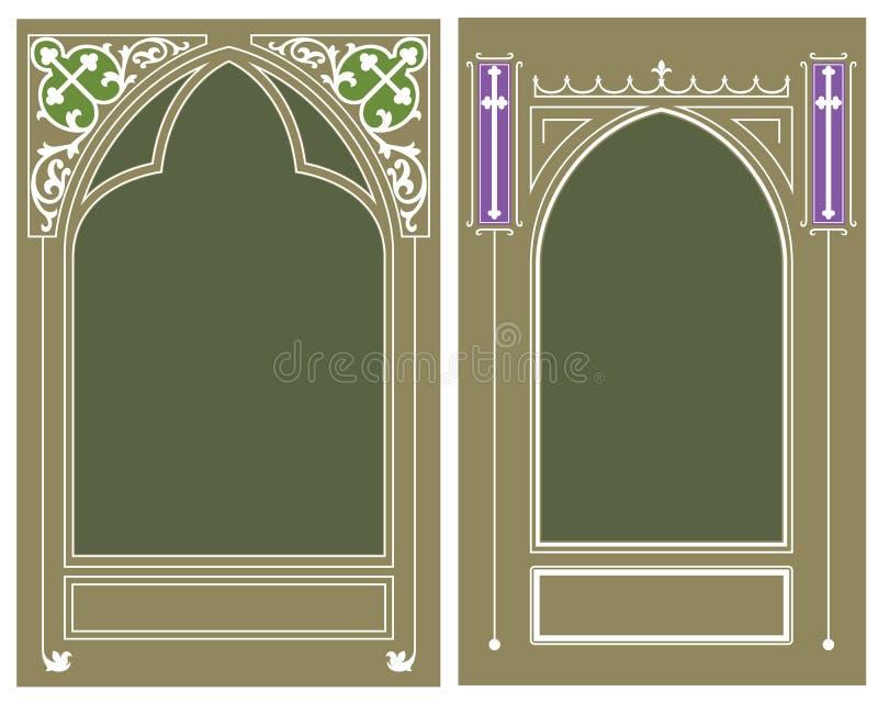 Vector Malplaatje Godsdienstig kader royalty-vrije illustratie