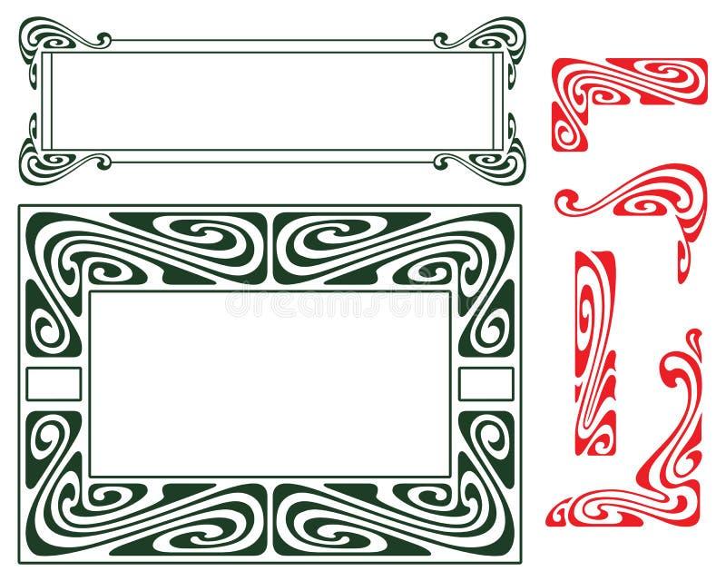Vector Malplaatje Hoekelementen stock illustratie