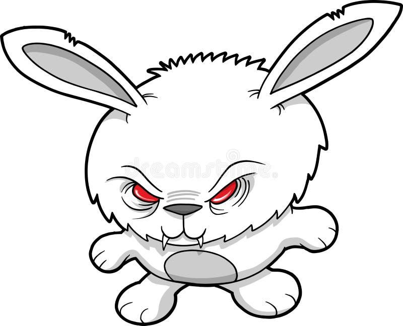 Vector malvado del conejo del vampiro libre illustration