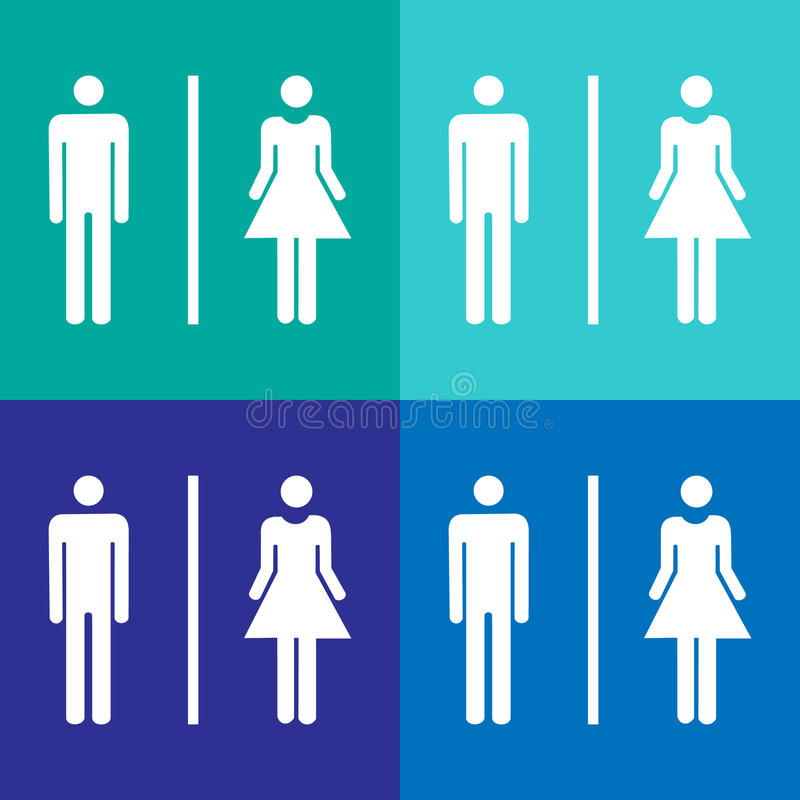 Vector a man and a lady toilet sign, Illustration EPS10 stock illustration