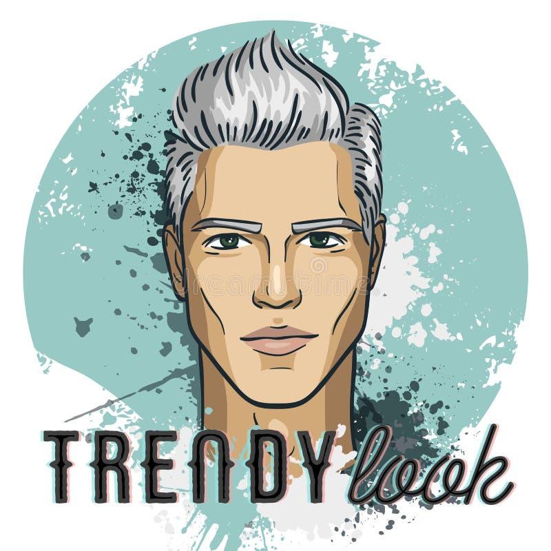 Vector man model hipster. Trendy look. Vector illustration, EPS 10 vector illustration