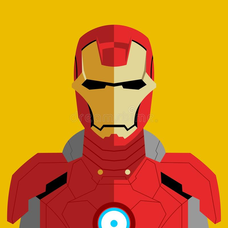 Vector man in robot red suit stock images