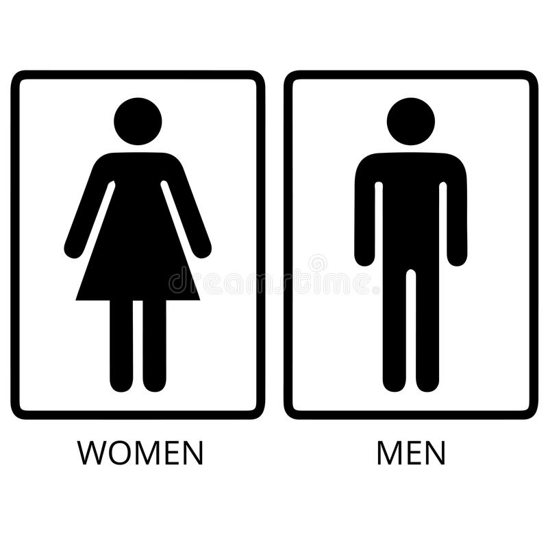 Vector man and woman restroom stock illustration image 58338839 Men women bathroom signs
