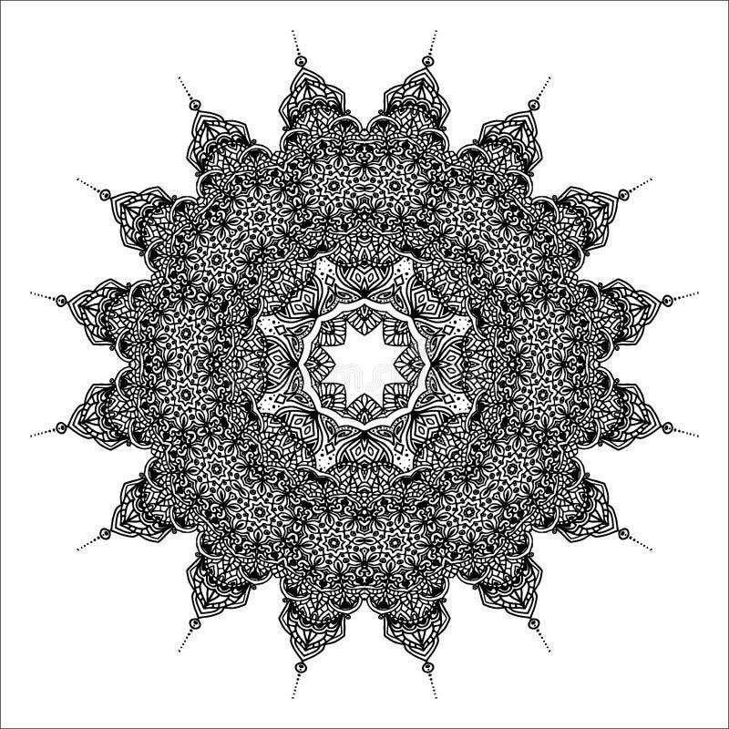 Vector mandala. For coloring book royalty free illustration