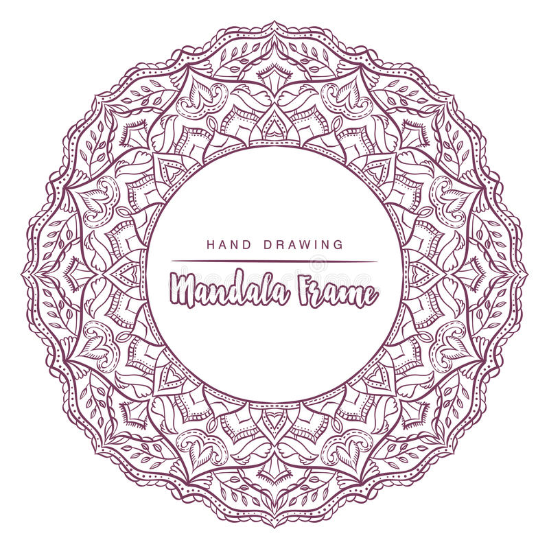 Vector mandala for coloring with floral decorative elements. royalty free stock photography