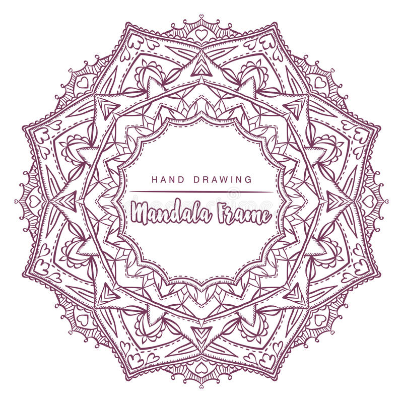 Vector mandala for coloring with floral decorative elements. royalty free stock photo