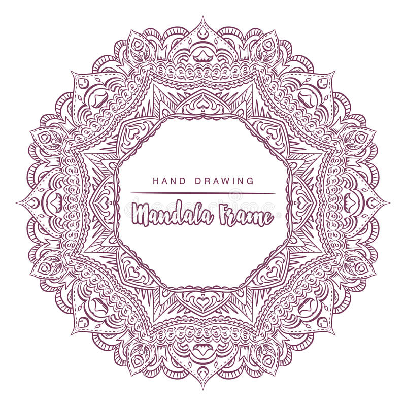 Vector mandala for coloring with floral decorative elements stock photography