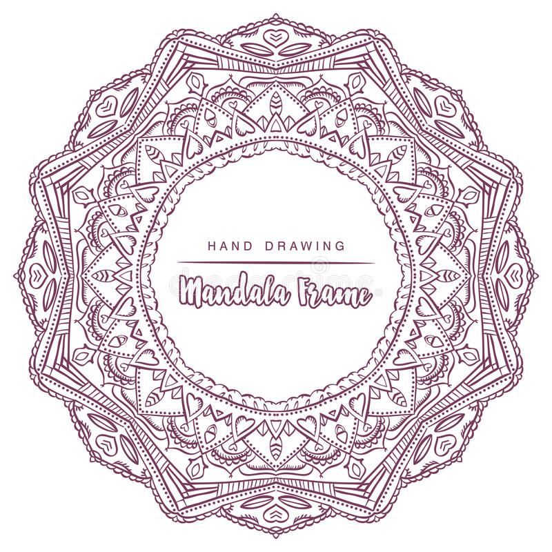 Vector mandala for coloring with floral decorative elements. stock photography
