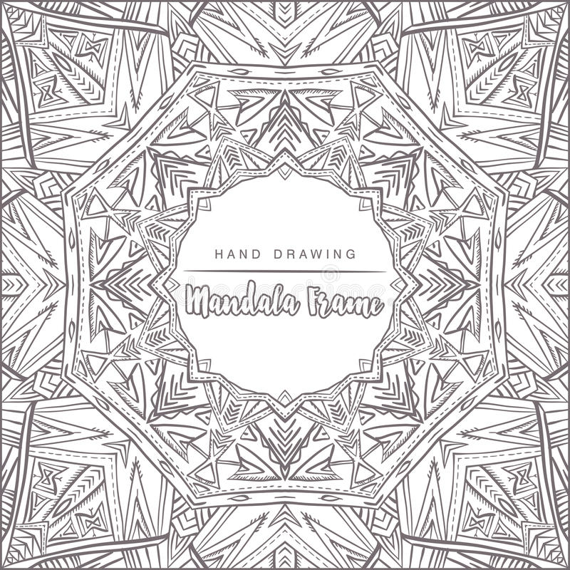 Vector mandala for coloring with floral decorative elements stock photos