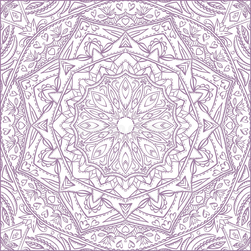 Vector mandala for coloring with floral decorative elements. royalty free stock images