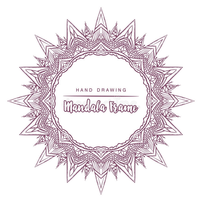Vector mandala for coloring with sun decorative elements. royalty free stock images