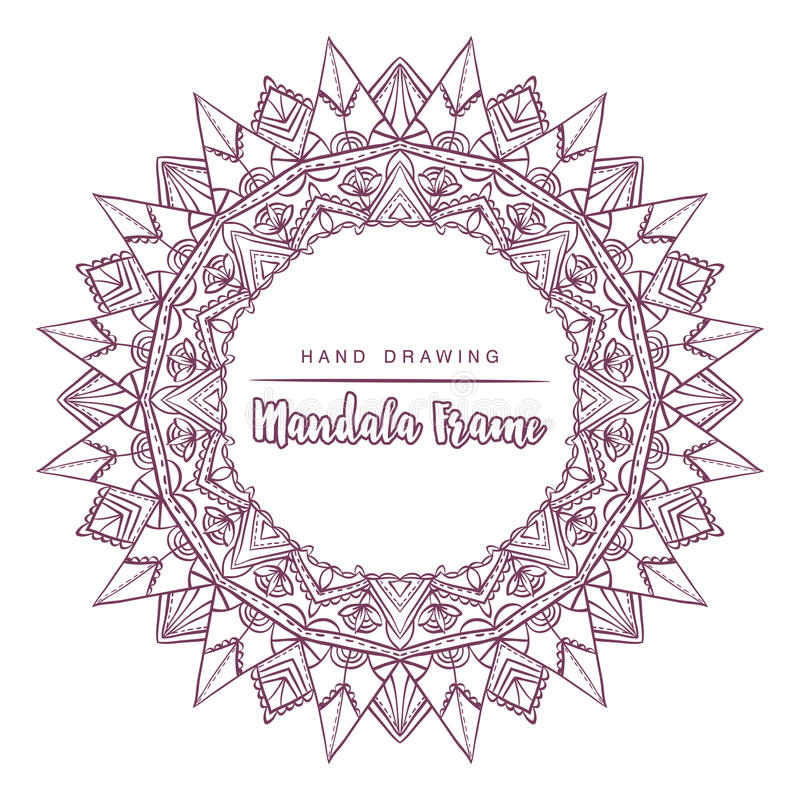 Vector mandala for coloring with sun decorative elements. stock photos
