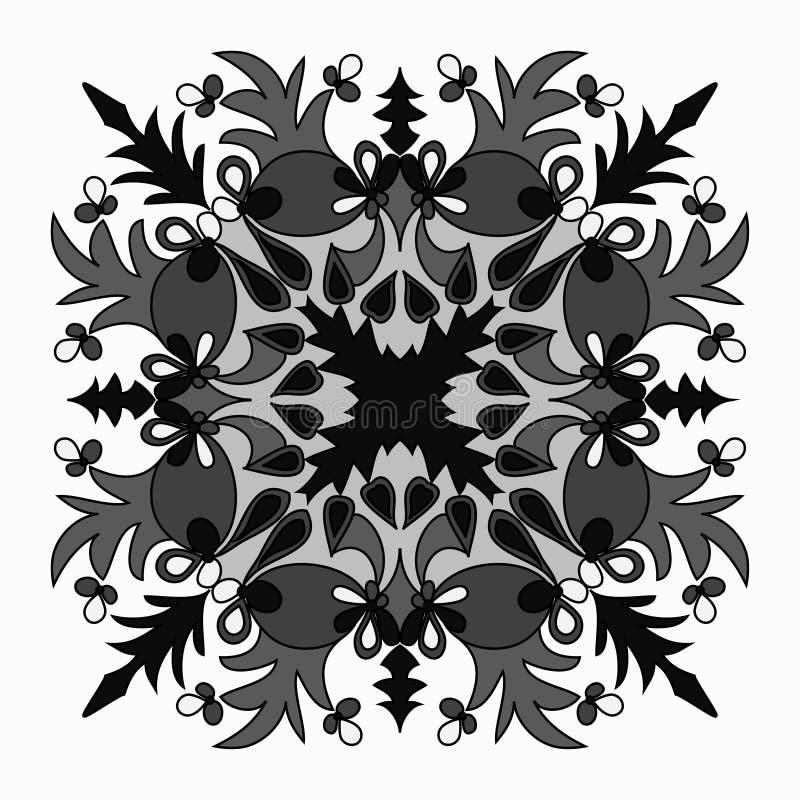 Vector a mandala elegante com elemento oriental do detalhe intrincado da decoração ilustração do vetor
