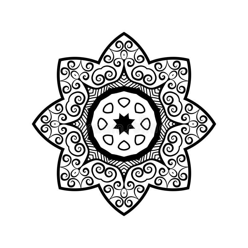Vector mandala. Ethnic decorative elements. Hand drawn background vector illustration
