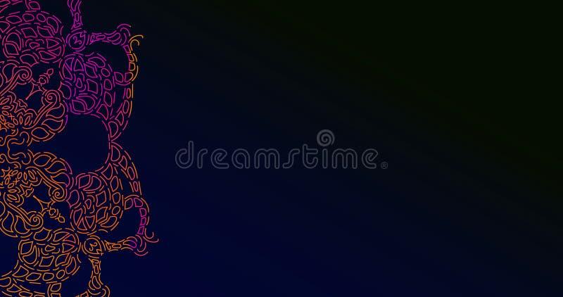 Vector mandala pattern. Creative colorful doodle sketch stock illustration
