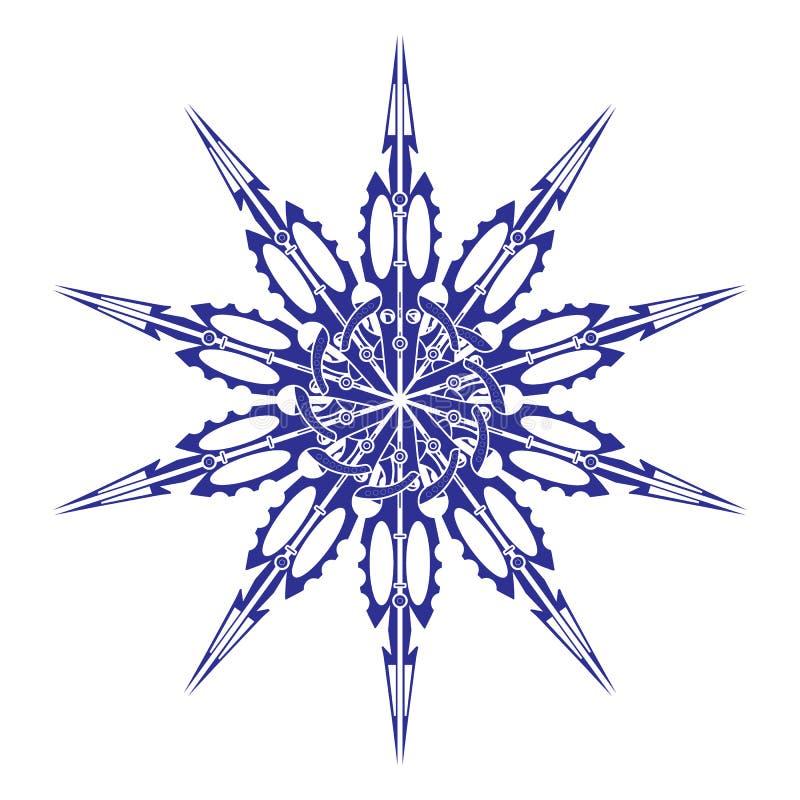 Vector Mandala, runde geometrische Verzierung, stilisiertes Blumenmuster Lokalisiertes Gestaltungselement bunt auf einem weißen H vektor abbildung