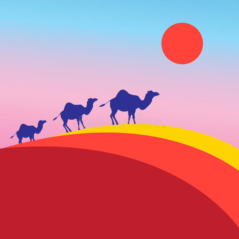 Download Vector Many Of Camels Stock Vector - Image: 83718068