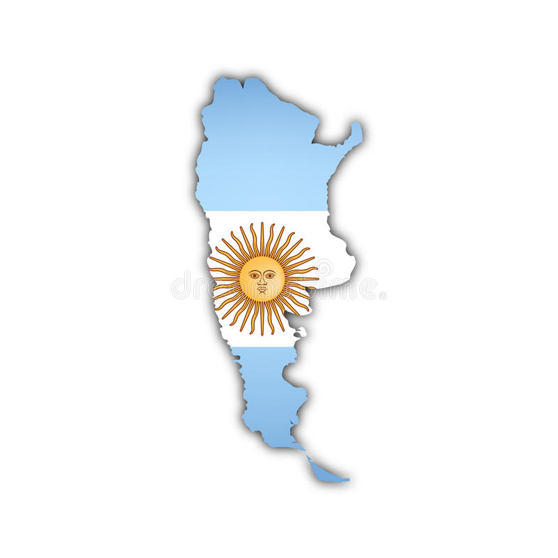 Vector Map Of Argentina Royalty Free Stock Photography Image - Argentina map vector
