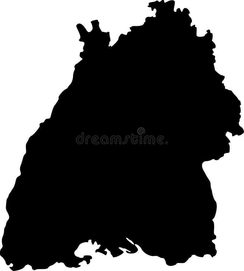 Vector map of baden wurttemberg. Black vector map of baden wurttemberg vector illustration