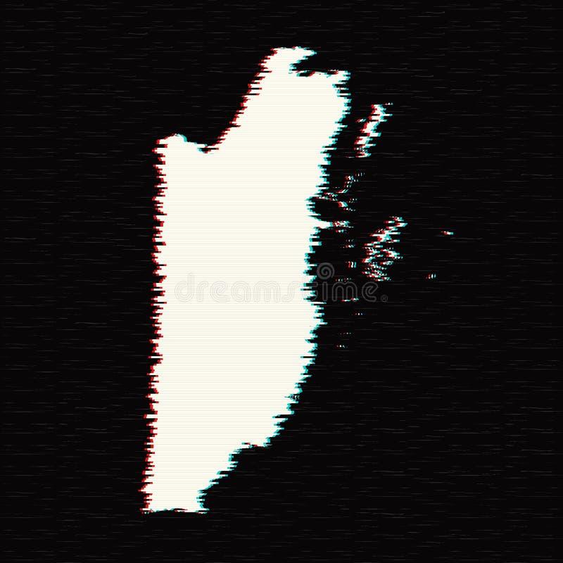 Vector map Belize. Isolated vector Illustration. Black on White background. EPS 10 Illustration stock illustration