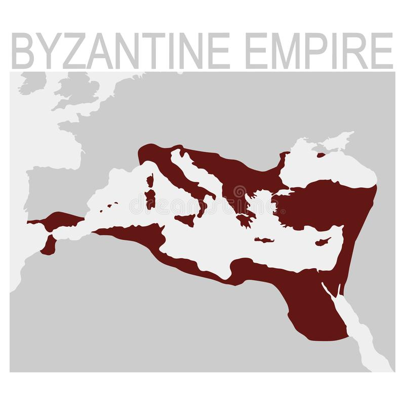 Vector map of the byzantine empire vector illustration