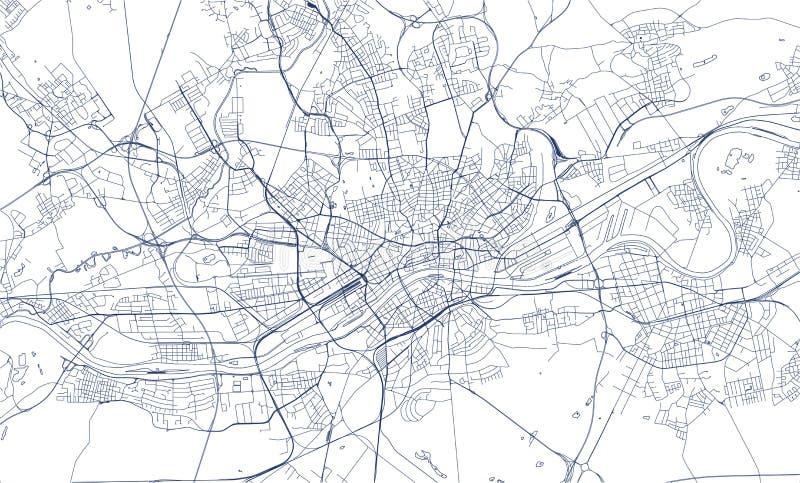 Map of the city of Frankfurt am Main, Hesse, Germany. Vector map of the city of Frankfurt am Main, Hesse, Germany royalty free illustration