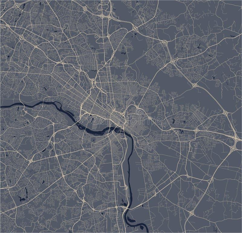 Map of the city of Richmond, Virginia, USA stock photos