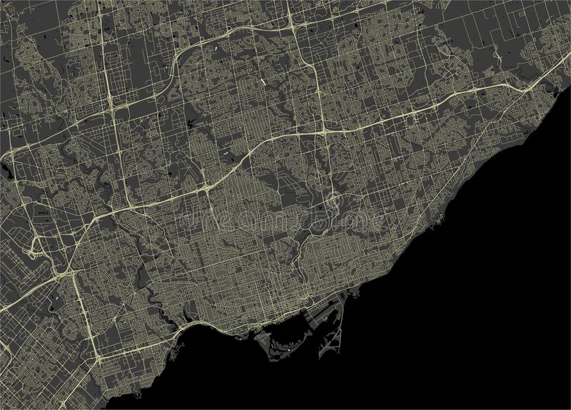 Map of the city of Toronto, Canada. Vector map of the city of Toronto, Canada vector illustration