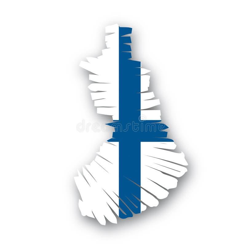 Vector Map Finland Royalty Free Stock Photos