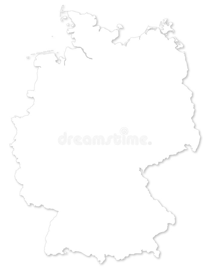 Vector Map Of Germany On White Background Stock Photos Image - Germany map drawing