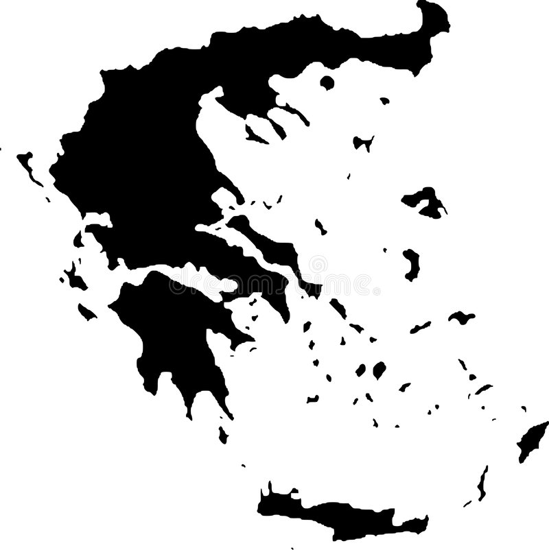 Vector map of greece stock illustration