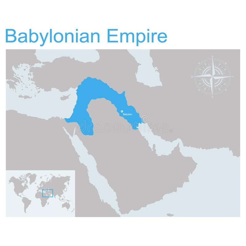 Free Vector Map Of Babylonian Empire Royalty Free Stock Photography - 173302517