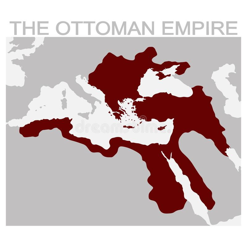 map of the ottoman empire stock illustration