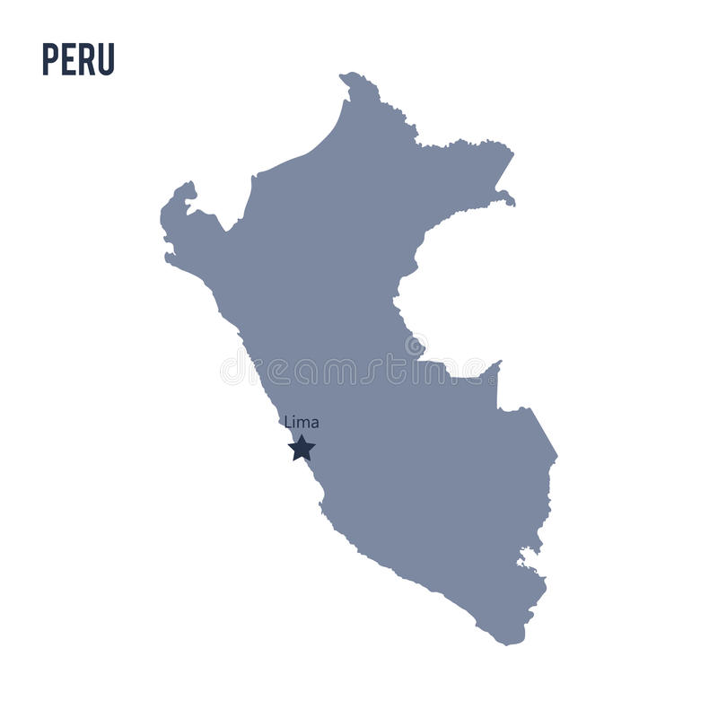 Vector map of peru isolated on white background stock illustration download vector map of peru isolated on white background stock illustration illustration of atlas gumiabroncs Choice Image