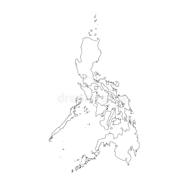Philippine Map Black And White Png