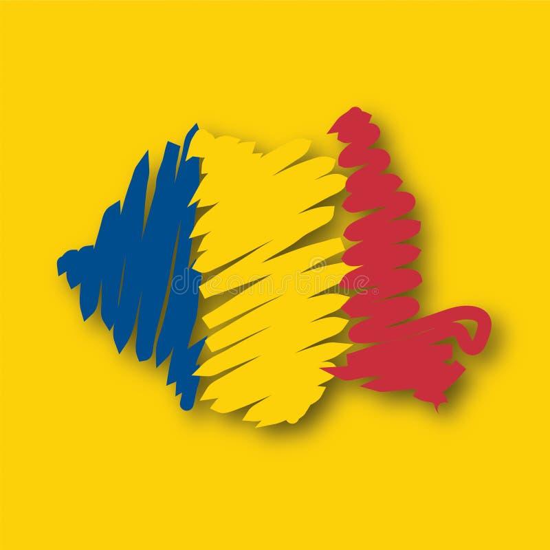 Vector map Romania royalty free illustration