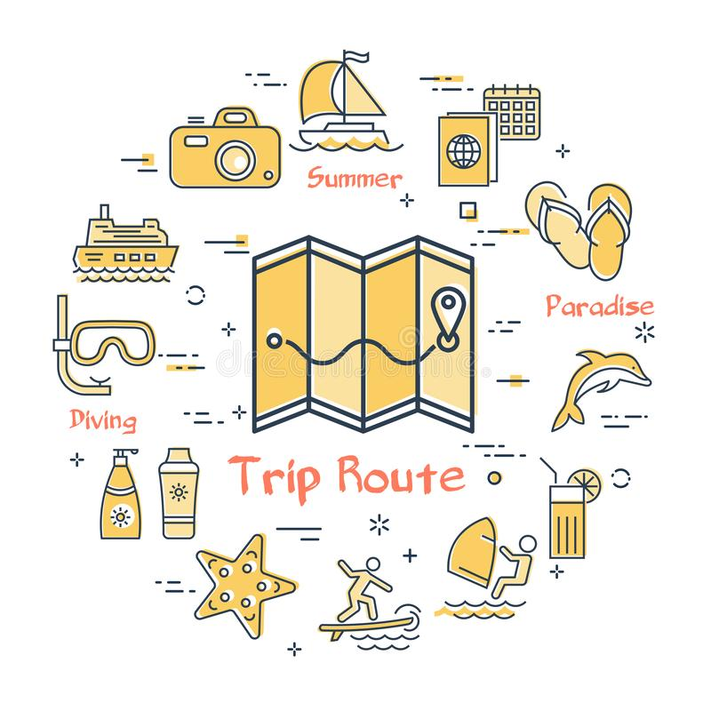 Route Planning Vector Concept Stock Vector