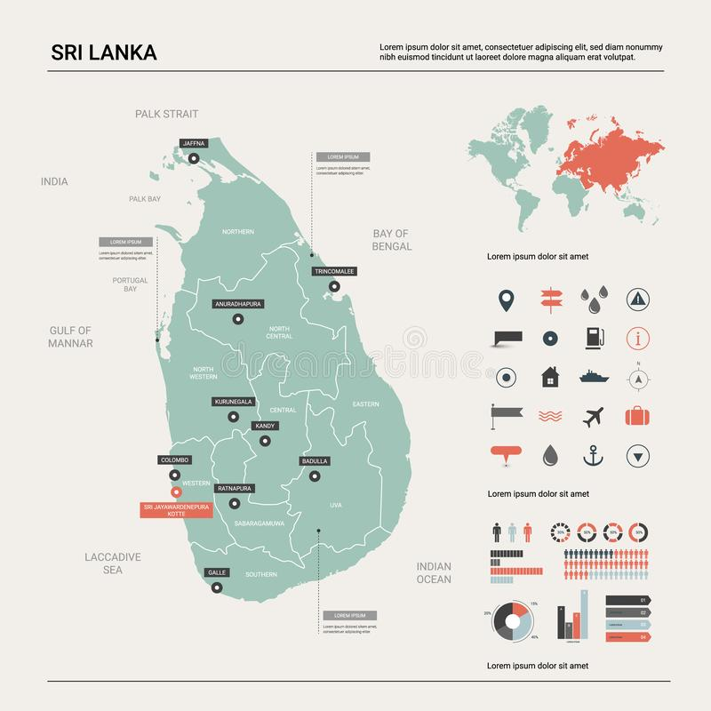 Sri Lanka Outline Map Stock Illustrations – 274 Sri Lanka Outline