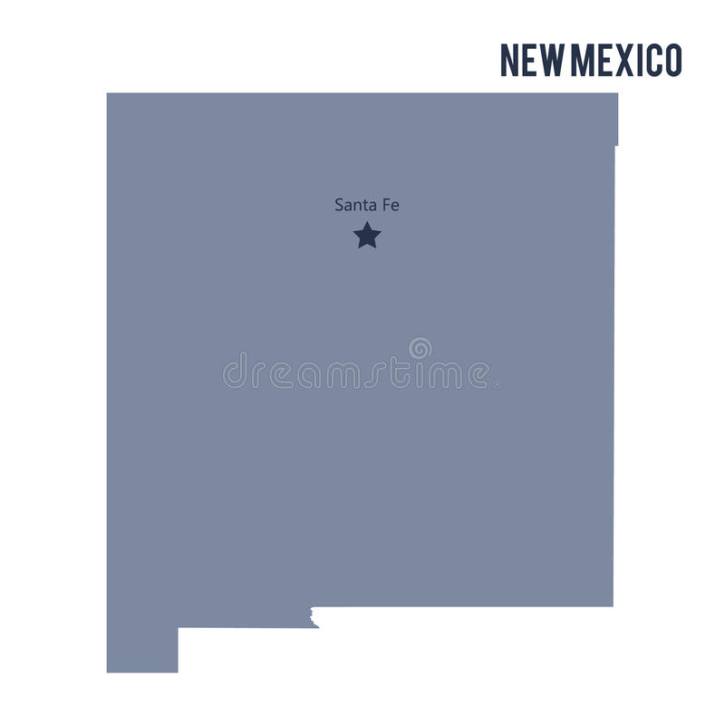 Vector map State of New Mexico isolated on white background. vector illustration