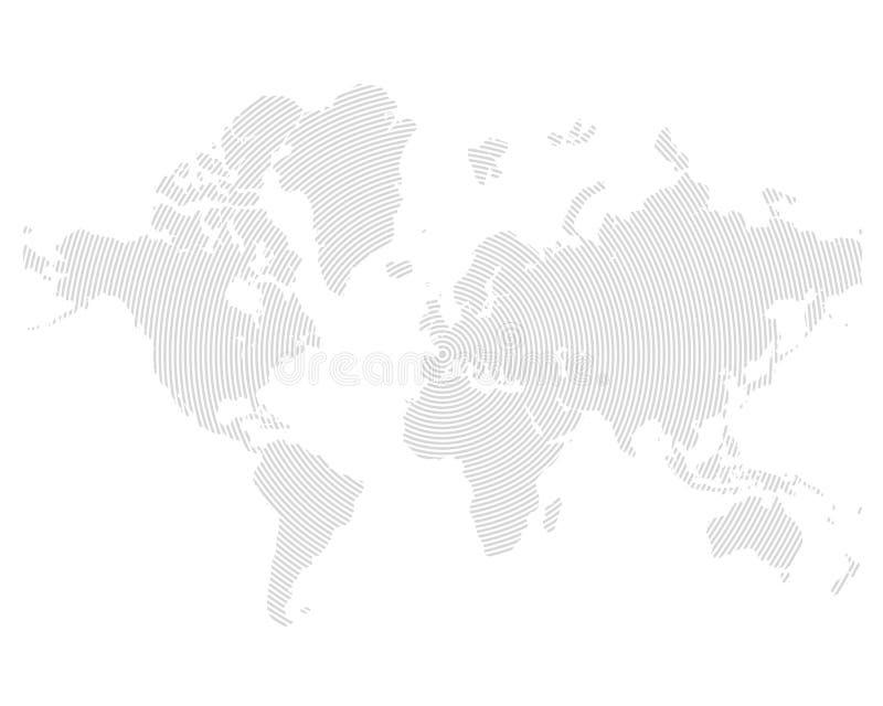 Vector map white stock illustration