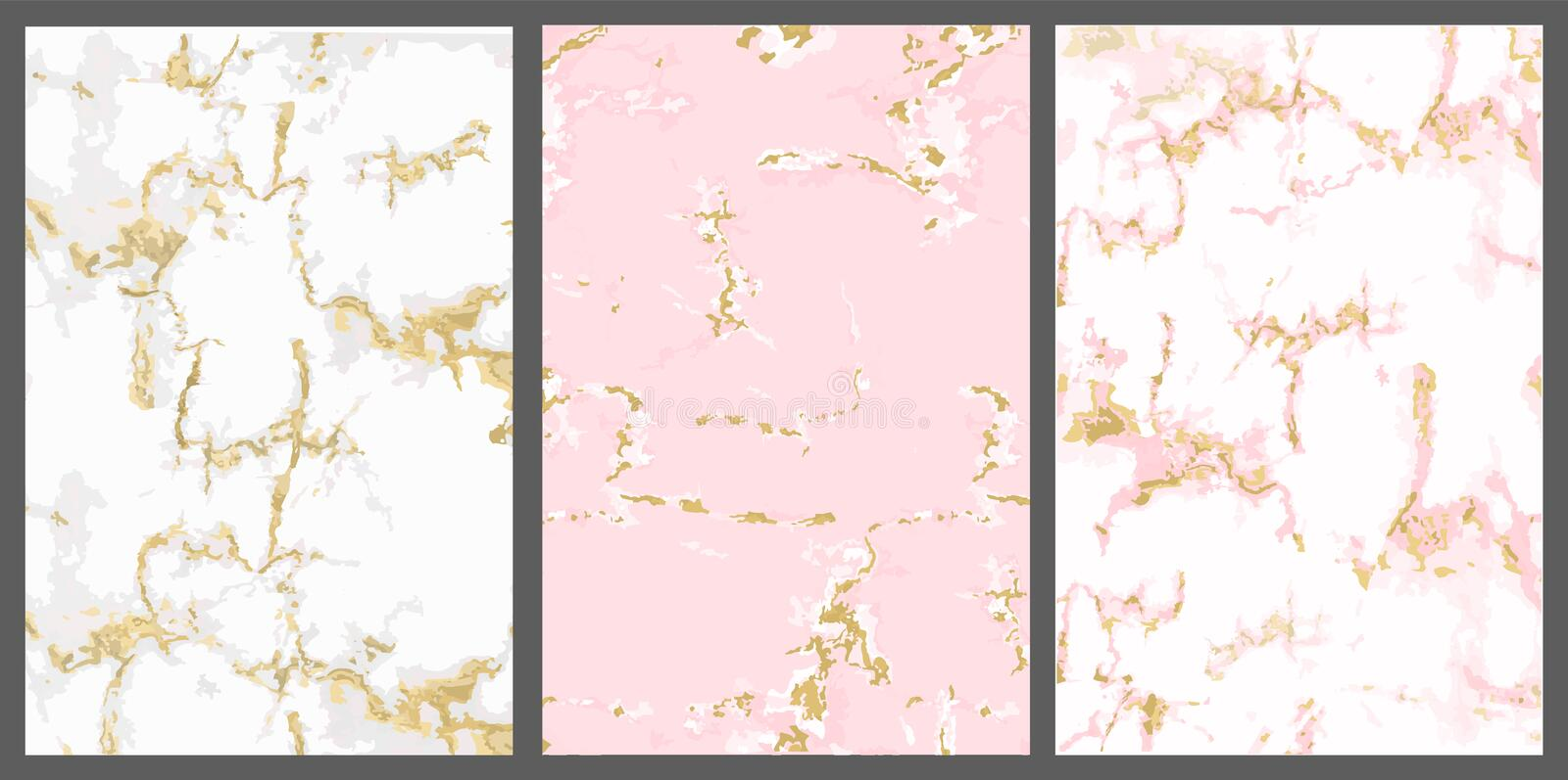 Vector Marble With Pink Gold Background White Rose With
