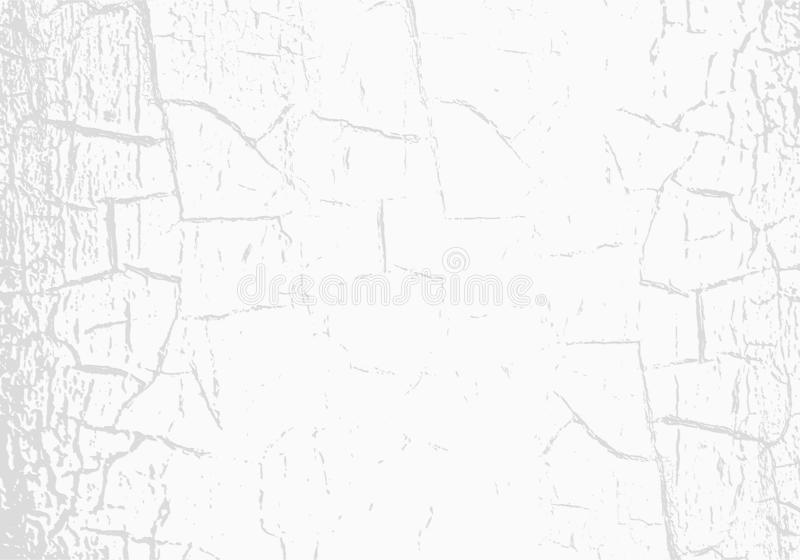 Vector marble texture with cracked white paint. Scratches. Subtle light grey background. Abstract grunge backdrop royalty free illustration