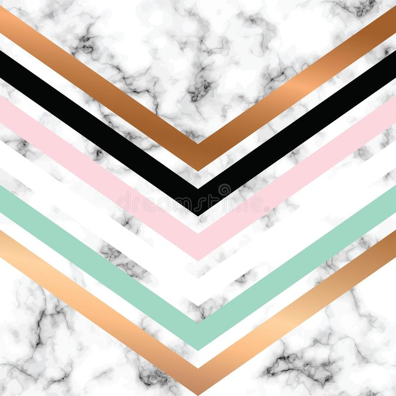 Vector marble texture design with golden geometric lines, black and white marbling surface, modern luxurious background vector illustration