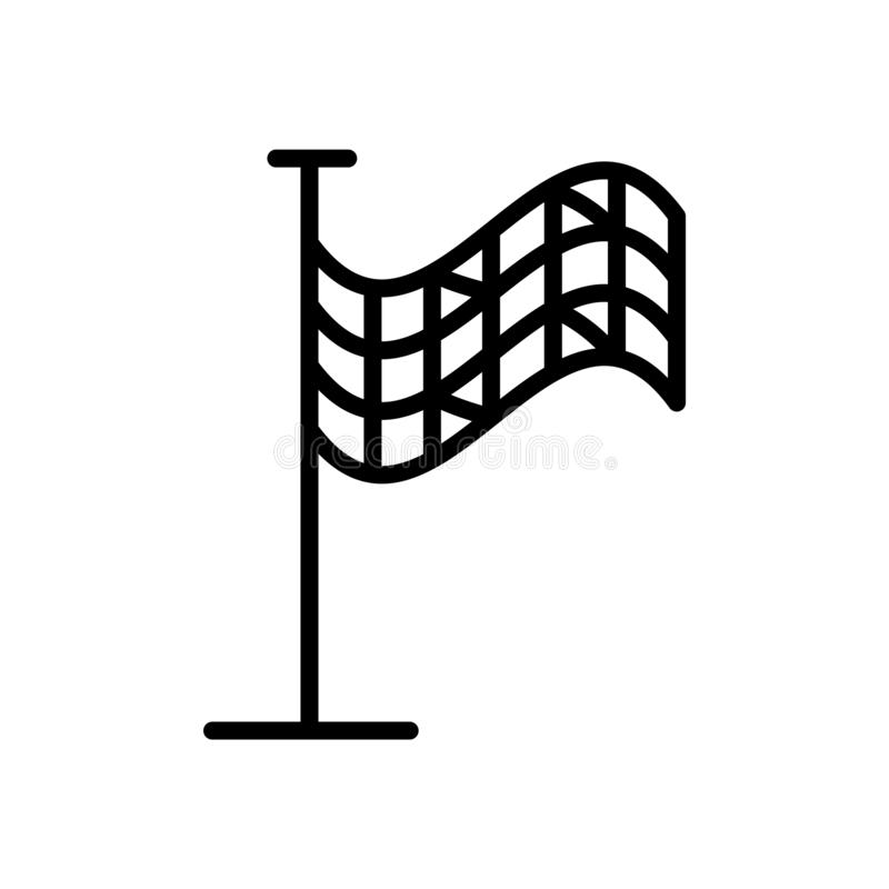 Vector marcado con cuadros del icono de la bandera aislado en el fondo blanco, la muestra a cuadros de la bandera, el símbolo lin stock de ilustración