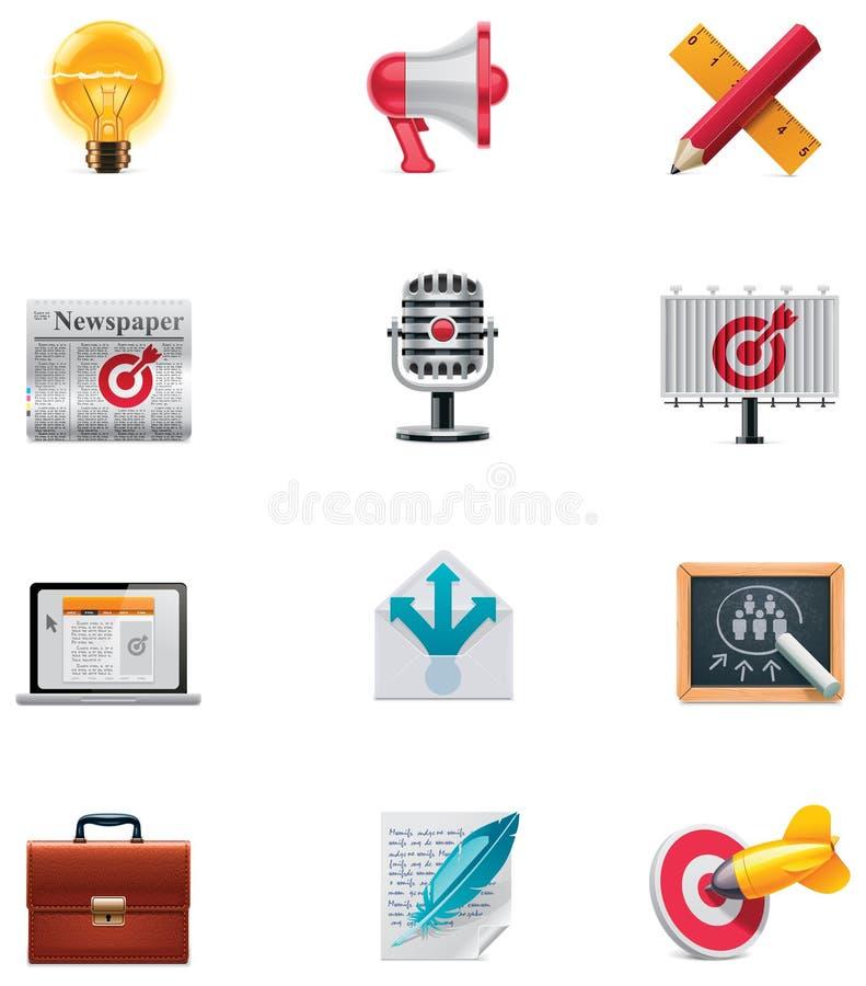 Free Vector Marketing Icon Set Royalty Free Stock Photo - 22400915