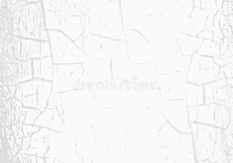 Vector marmeren textuur met gebarsten witte verf krassen Subtiele lichtgrijze achtergrond Abstracte grungeachtergrond royalty-vrije illustratie